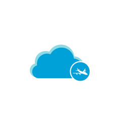 cloud computing icon aircraft icon vector image