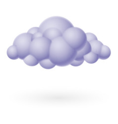 cloud icon on white for design vector image