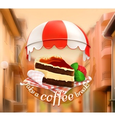 coffee cake an invitation to a cup coffee vector image
