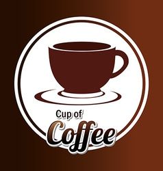 Coffee design over coffee background vector