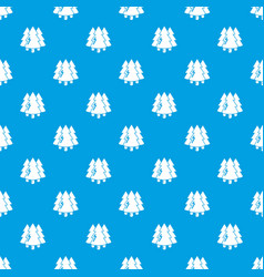 Coniferous forest pattern seamless blue vector