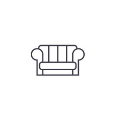 couch line icon sign on vector image