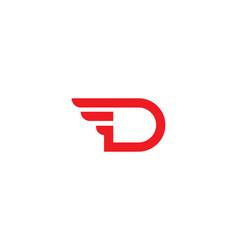D letter logo business vector