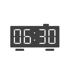 digital alarm clock icon isolated on white vector image