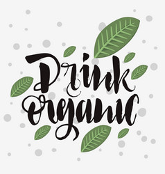 Drink organic rough traced custom artistic vector