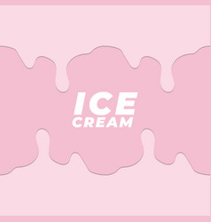 dripping pink ice cream flowing background art vector image