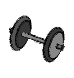 Dumbbells icon imag vector