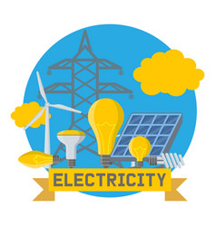 Electricity power electrical bulbs energy vector