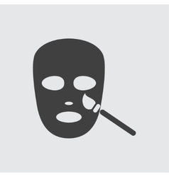 Face mask icon vector image