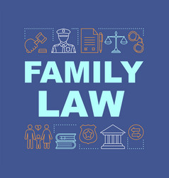 family law word concepts banner vector image
