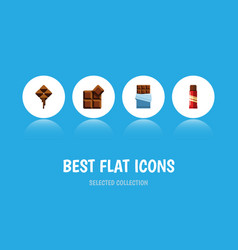 flat icon bitter set of bitter sweet delicious vector image