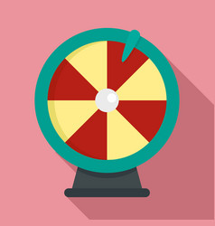 fortune wheel icon flat style vector image