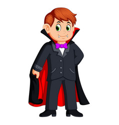funny cartoon little vampire vector image