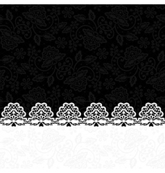 greeting card with lace border vector image