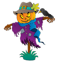 Halloween scarecrow theme image 1 vector