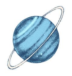 hand drawn uranus planet vector image