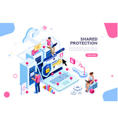 Hardware protection concept vector