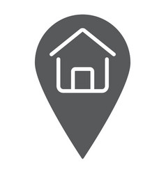 home location glyph icon real estate and home vector image