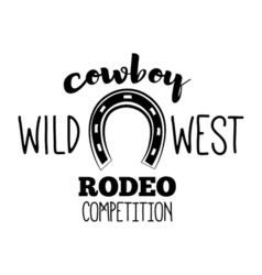 Horseshoe Wild West Label Rodeo Competition Badge vector image