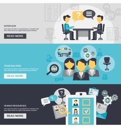 Human Resources Banner vector image