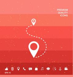 Location symbol icon vector