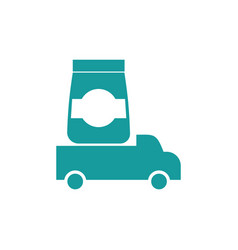 Logistics icon delivery sign truck carries goods vector