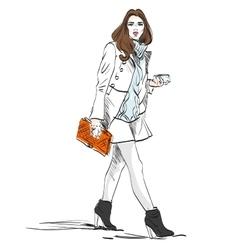 Model fashion Sketch vector