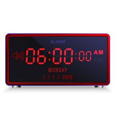 modern digital led alarm clock with calendar vector image