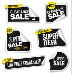modern sale banners and labels collection 09 vector image