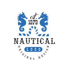 nautical logo original design est 1979 retro vector image