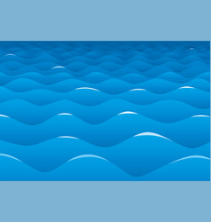 ocean background with blue waves and perspective vector image
