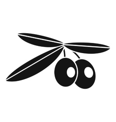 Olives icon simple style vector image