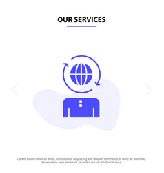 our services business global management modern vector image
