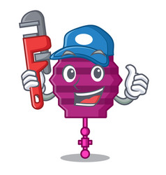 Plumber paper lantern mascot cartoon vector