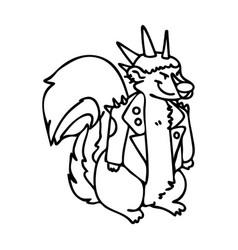 Punk rock skunk with mohawk clipart vector