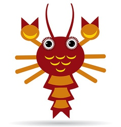 Red lobster on a white background vector image