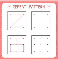 Repeat pattern working pages for kids vector
