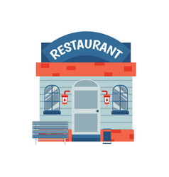 restaurant building facade with signboard flat vector image