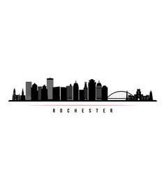rochester skyline horizontal banner vector image