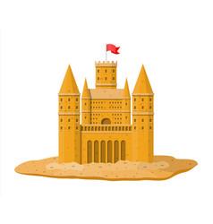 Sand castle or handmade sculpture vector