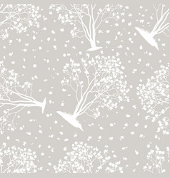 seamless pattern magnolia trees vector image