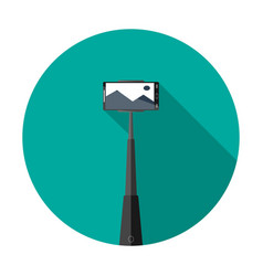 selfie tool for smartphone icon isolated on backgr vector image