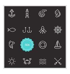 Set of Sea Food Elements can be used as Logo or vector image