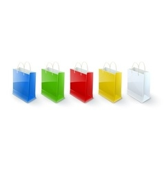 Shopping bags paper packaging vector