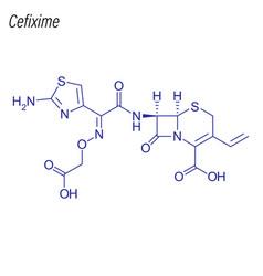Skeletal formula cefixime drug chemical vector