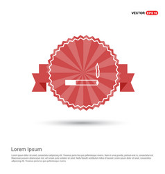 smoking icon - red ribbon banner vector image