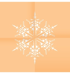 Snowflake paper vector
