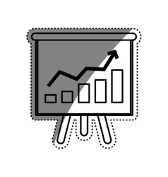 Success statistics bars vector image
