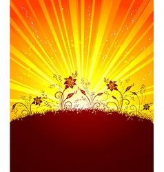 Summer sunset vector