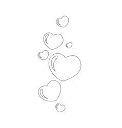 transparent simple heart bubbles vector image
